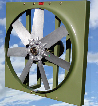 Axial Direct Drive Wall Fan High Velocity Air